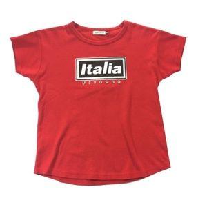 90's Y2K vintage Rapshop Italia Bright Red Top